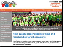 T-Shirts2u website designed and built by Beach Hut Studio