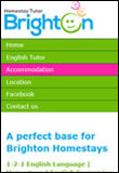 Brighton Homestay Tutor website in mobile mode