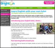 Brighton Homestay Tutor website - one of the websites in our education portfolio