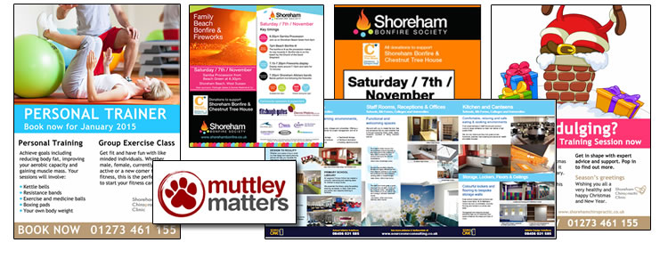 Marketing leaflets, fliers, brochures signs and more