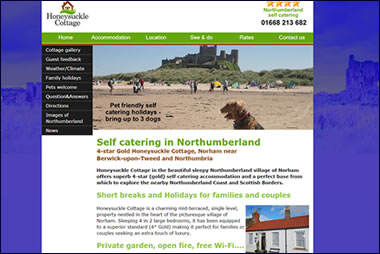 Honeysuckle Cottage Northumberland